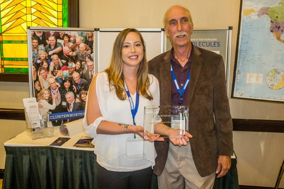Bob Wold Present Ashley Hattle with Exceptional Education in Cluster Headaches award